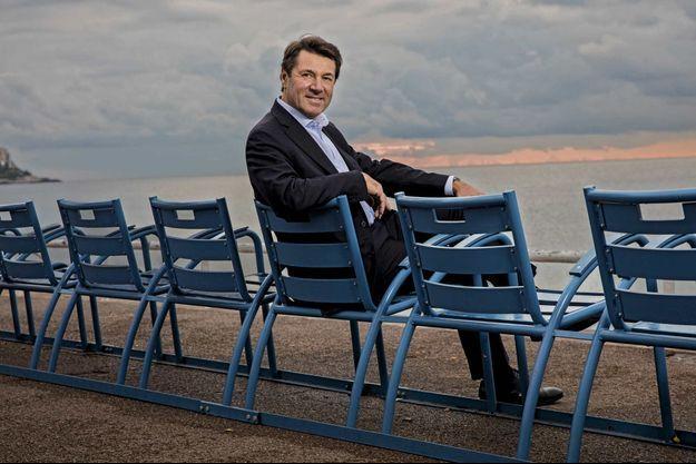 Christian Estrosi, maire de Nice et nouveau président de la région Paca, sur la promenade des Anglais, le 14 décembre.