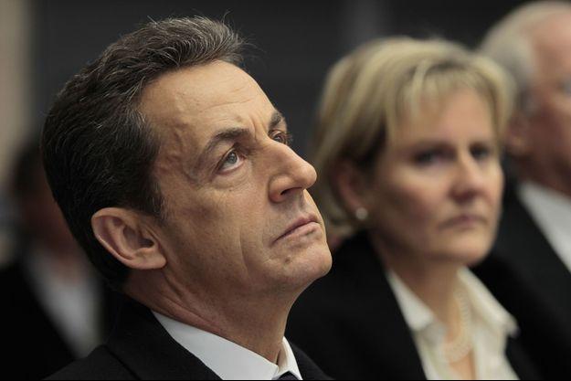Nicolas Sarkozy et Nadine Morano en janvier 2012