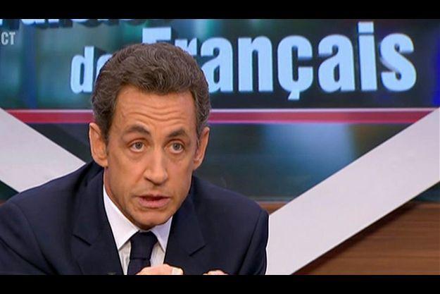 Nicolas Sarkozy sur le plateau de «Paroles de Français», lundi 25 janvier.