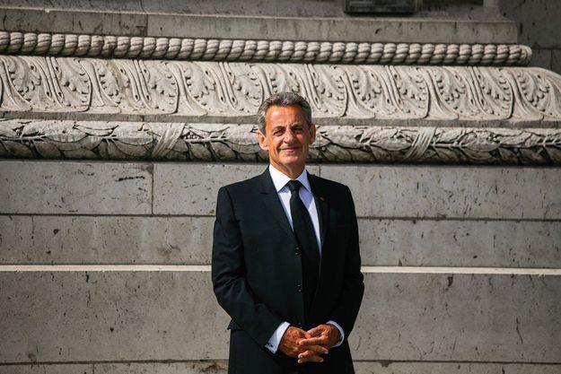 Nicolas Sarkozy lors de la commémoration de la victoire du 8 mai 1945 devant la tombe du Soldat inconnu, le 8 mai dernier.