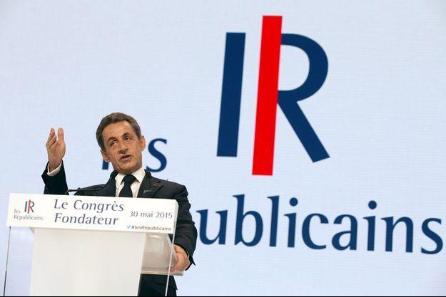 Nicolas Sarkozy lors du Congrès fondateur des Républicains, le 30 mai 2015.