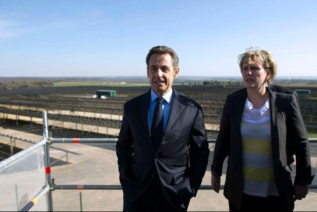 Nicolas Sarkozy et Nadine Morano en 2012, durant la campagne présidentielle.