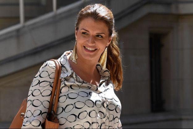 "Marlène Schiappa, mercredi à l'hôtel Marigny pour ""Tech For Good""."