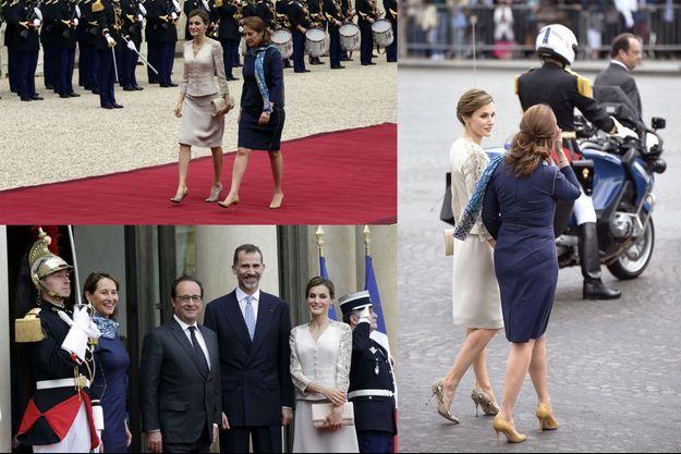 Mardi, c'est Ségolène Royal qui a accueilli le couple royal espagnol aux côtés de François Hollande.