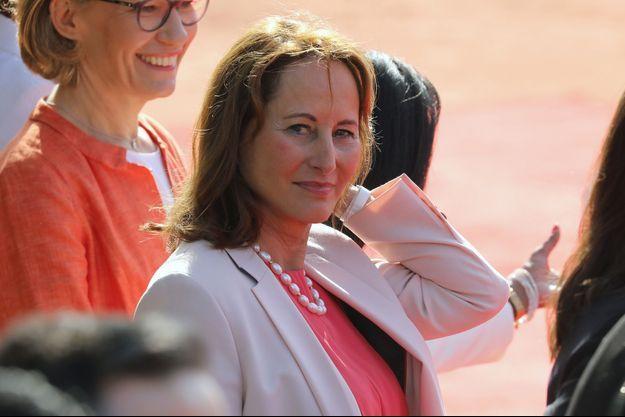 Ségolène Royal à New Delhi le 10 mars lors du voyage de président Macron.