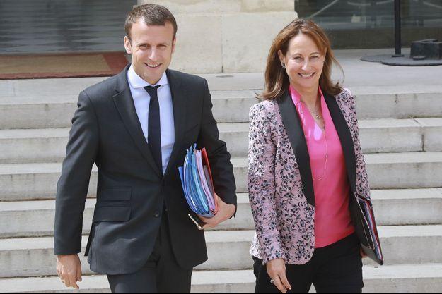 Emmanuel Macron et Ségolène Royal en août dernier à l'Elysée.