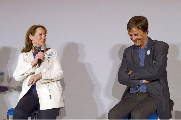 En mars 2015, quand Ségolène Royal, ministre de l'Environnement, venait soutenir la fondation de Nicolas Hulot dans la lutte contre le changement climatique.