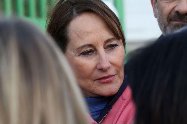 Ségolène Royal, jeudi lors d'un déplacement près de Marseille dans le cadre des municipales.