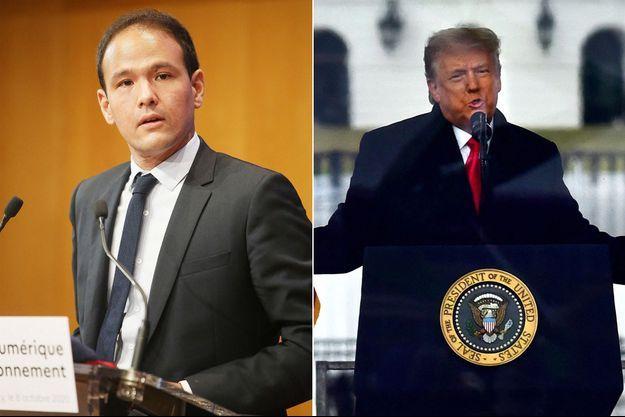 Cédric O et Donald Trump