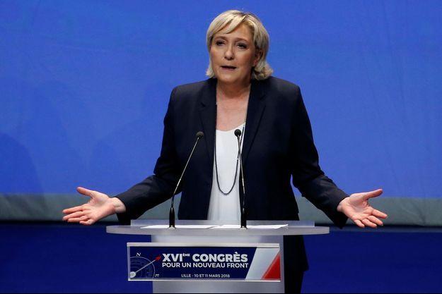 Marine Le Pen ici le 11 mars lors du Congrès du FN.