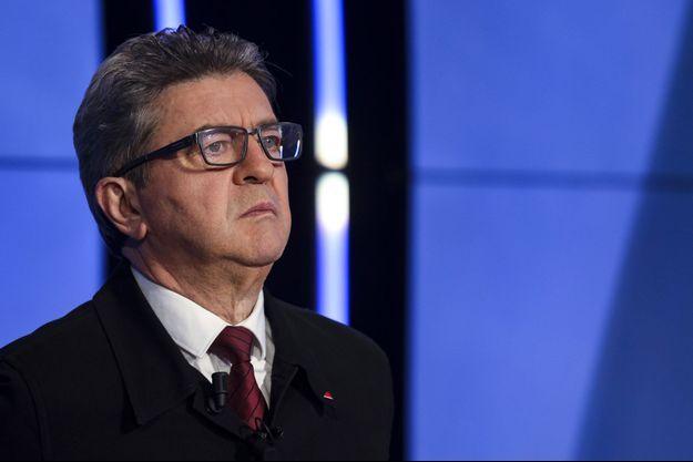 Jean-Luc Mélenchon avant un débat sur BFMTV, mercredi.