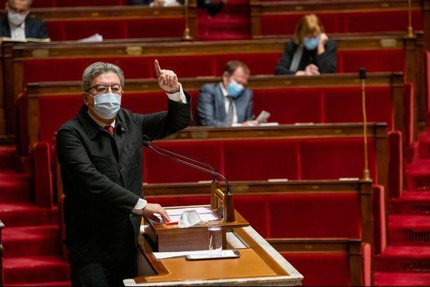 Jean-Luc Mélenchon lundi à l'Assemblée nationale.