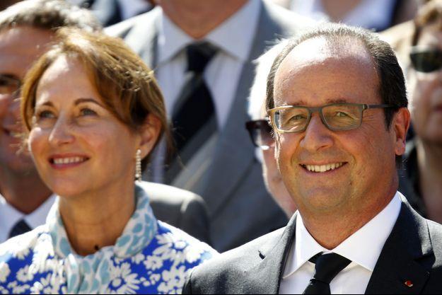 Ségolène Royal et François Hollande le 10 septembre dernier, lors du lancement de la conférence climat à l'Elysée.