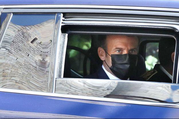 Emmanuel Macron, jeudi à Martel dans le Lot.
