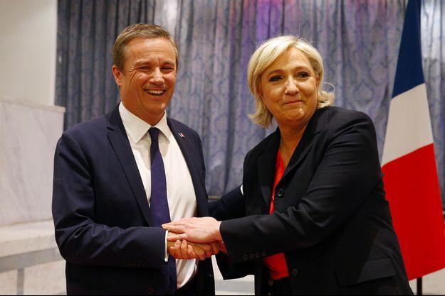 Nicolas Dupont-Aignan et Marine Le Pen