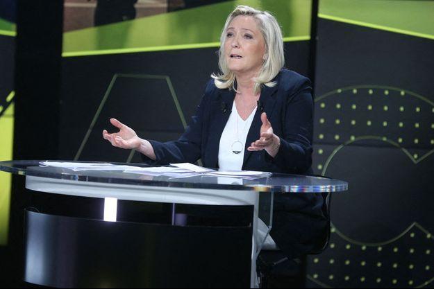 Marien Le Pen jeudi dans les studios de BFM TV.