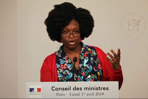 Sibeth Ndiaye à l'issue de son premier Conseil des ministres.