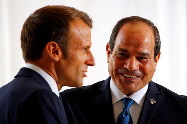Emmanuel Macron et son homologue égyptien Abdel Fattah al-Sissi