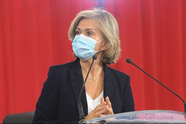 Valérie Pécresse lors du Grenelle de l'éducation et de l'inclusion par le sport le 1er février 2021.