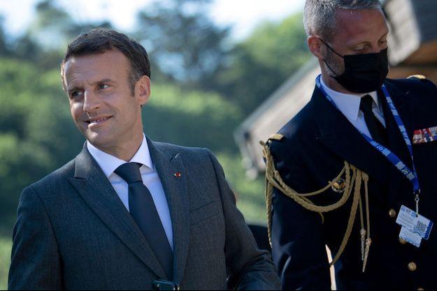 Emmanuel Macron lors du sommet du G7 samedi 12 juin.
