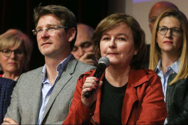 Nathalie Loiseau et Pascal Canfin à Paris fin mars.
