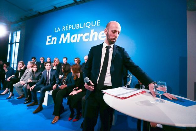 Le patron de la République en marche, Stanislas Guerini, le 24 janvier à Paris. Le parti n'a pas encore dévoilé sa tête de liste pour les élections européennes.