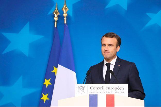 Emmanuel Macron à Bruxelles, le 14 décembre dernier.