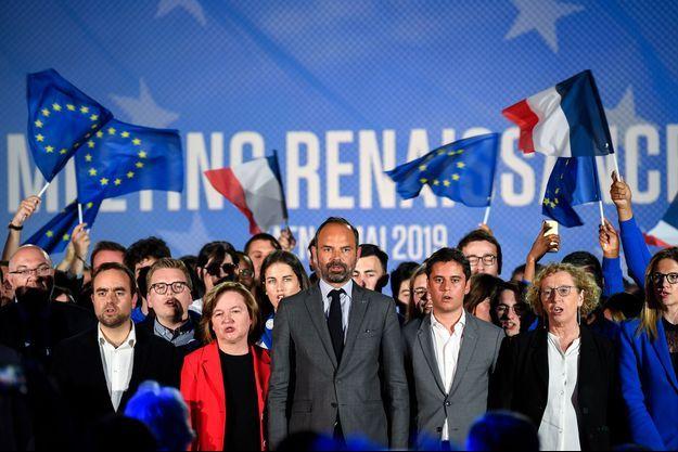 Nathalie Loiseau aux côtés d'Edouard Philippe lors du meeting de La République en Marche lundi 6 mai.