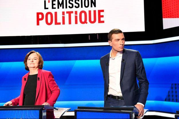 Les deux favoris de notre sondage quotidien, Nathalie Loiseau (LREM) et Jordan Bardella (RN).