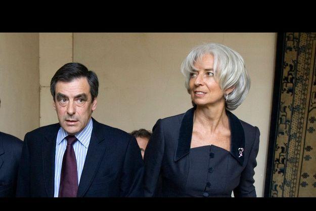 François Fillon et Christine Lagarde.