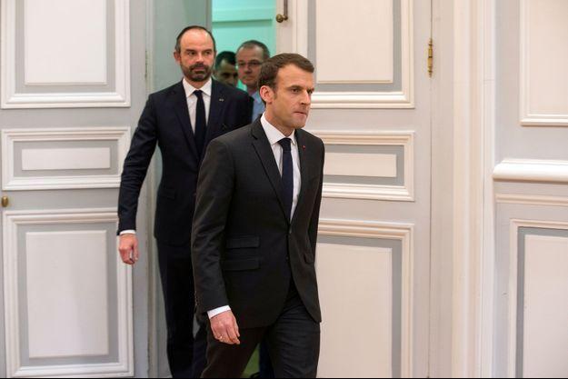 Emmanuel Macron et Edouard Philippe le 23 mars dernier.