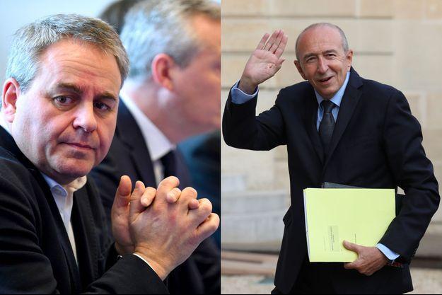 Xavier Bertrand en février dernier et Gérard Collomb le 5 septembre à l'Elysée.