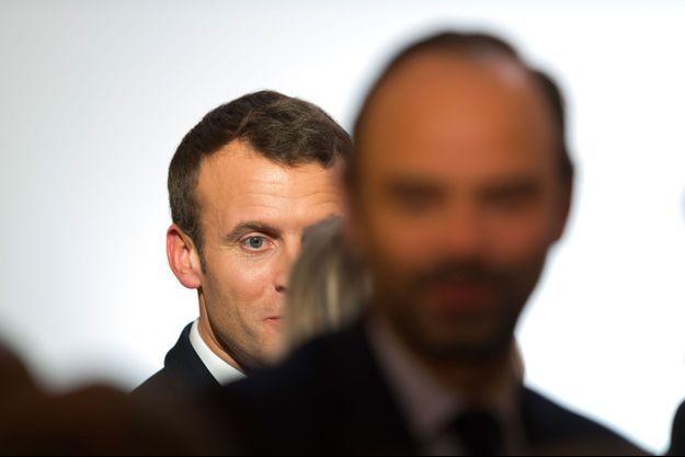 Emmanuel Macron et Edouard Philippe à l'Elysée, le 30 janvier.