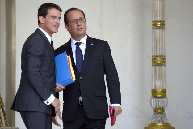 Manuel Valls et François Hollande le 23 septembre à l'Elysée.