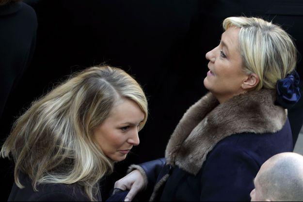 Marion Maréchal-Le Pen et Marine Le Pen en février dernier.