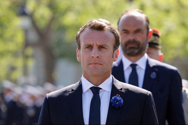 Emmanuel Macron et Edouard Philippe le 8 mai 2018.