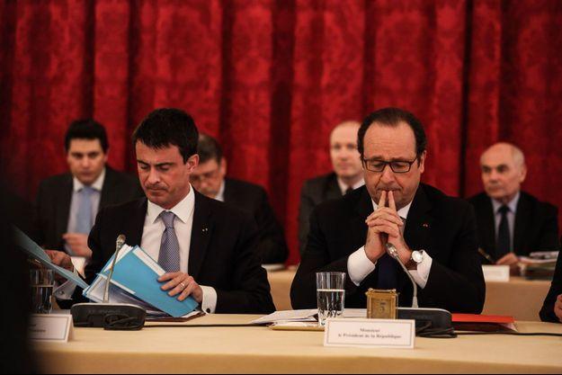 Manuel Valls et François Hollande lundi à l'Elysée.