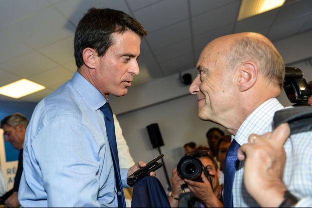 Manuel Valls et Alain Juppé en juillet dernier pour la signature du contrat de plan Etat-région en Aquitaine.
