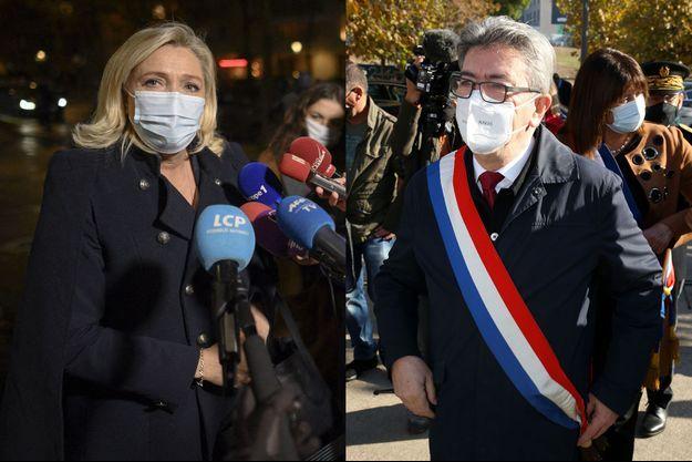 Marine Le Pen à Paris le 27 octobre et Jean-Luc Mélenchon à Marseille, le 11 novembre.