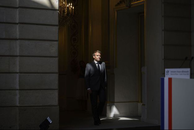 Emmanuel Macron à l'Elysée le 18 mai dernier.