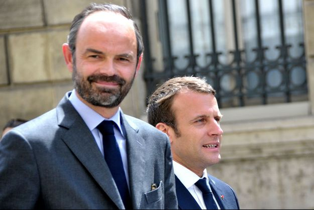 Edouard Philippe et Emmanuel Macron en mai 2017.