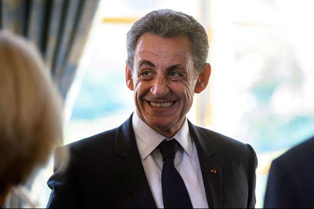 Nicolas Sarkozy lors d'une visite à l'Elysée, lundi.
