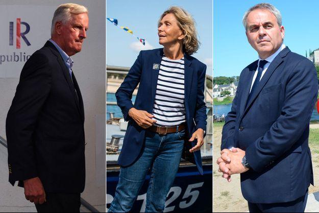 Michel Barnier, Valérie Pécresse et Xavier Bertrand.