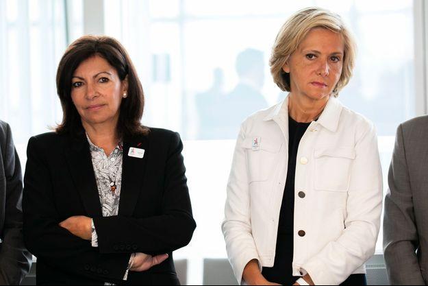 Anne Hidalgo et Valérie Pécresse à Saint-Denis, le 23 mai dernier.
