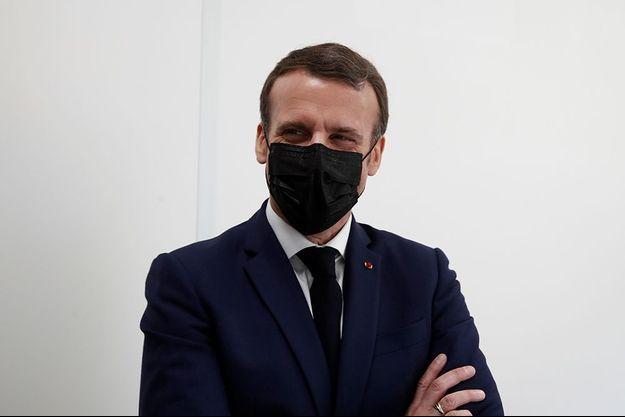 Emmanuel Macron à Bobigny le 1er mars 2021.