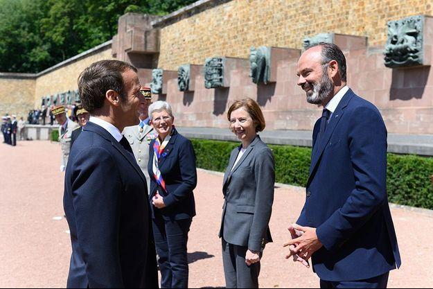 Emmanuel Macron et Edouard Philippe le 18 juin à Suresnes.
