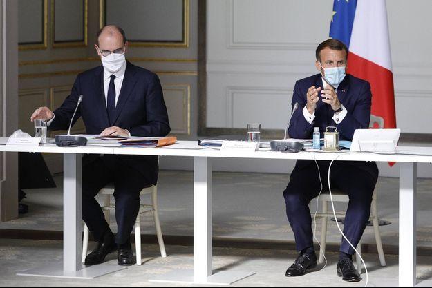 Jean Castex et Emmanuel Macron le 26 août 2020.