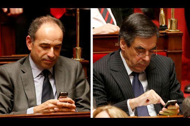 Jean-François Copé et François Fillon à l'Assemblée nationale le 4 décembre dernier.