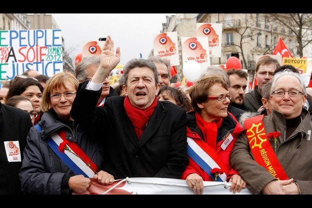 Jean-Luc Mélenchon, dimanche dernier à Paris.
