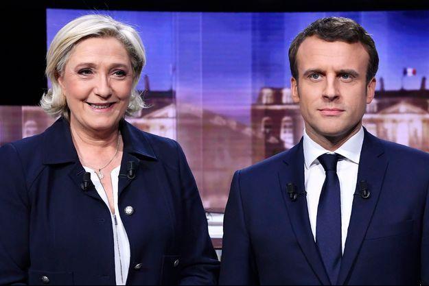 Marine Le Pen et Emmanuel Macron lors du débat de l'entre deux tours de l'élection présidentielle.